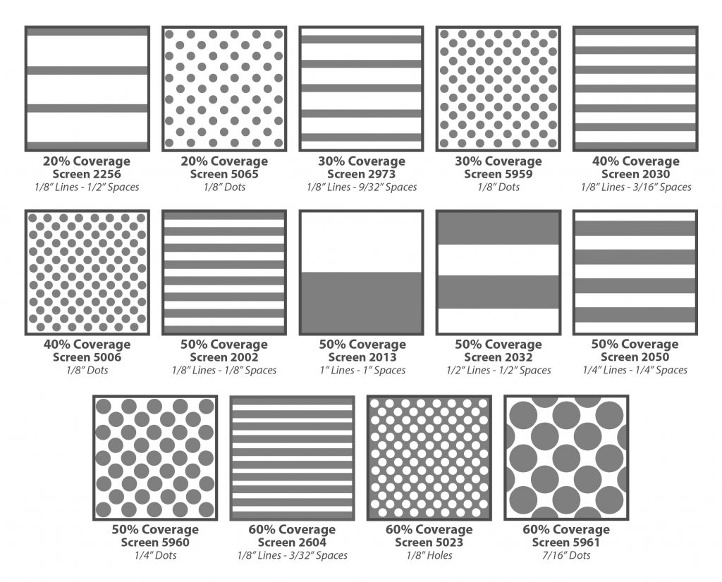 Standard Patterns for Architectural Glass